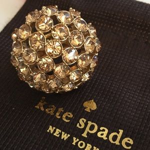 Kate Spade ♠️ Lady Marmalade Crystal Ring Topaz